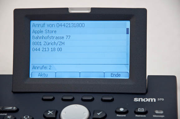 Snom 370 Screen 1