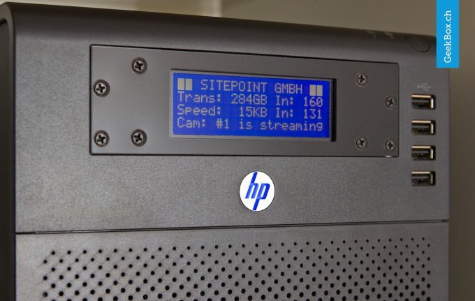 HP ProLiant N40L Server mit LCD-Display